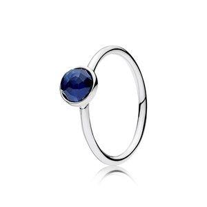 Pandora September Blue Sapphire Droplet Ring
